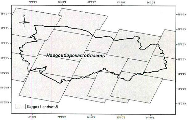 Границы территории интереса, Новосибирская область 177 756 кв.км.