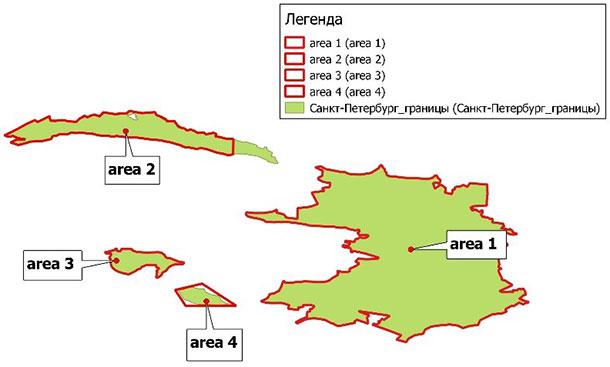 <br> Обобщенная схема расположения районов для монопокрытия
