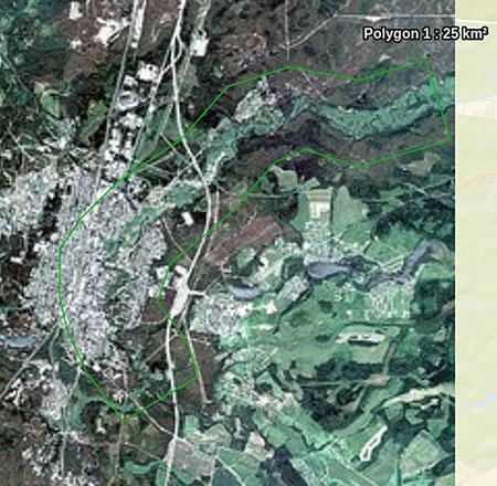 Схема расположения района заказа Ленинградская область, площадь 25 000 кв.км.