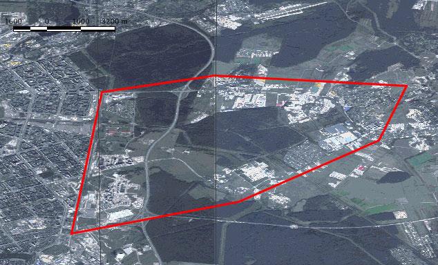 Схема поставляемых данных на район Янино