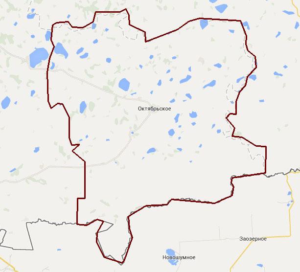 Схема расположения участка съемки территории Октябрьского района Челябинской области