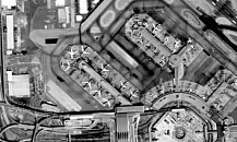 San Francisco international airport - KOMPSAT-2 - 1 m B&W (c) KARI - Distribution Spot Image